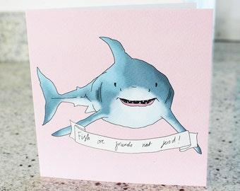Sharky Greeting Card