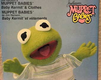 Baby Kermit Doll and Clothes Vogue 8966 Muppet Babies  Uncut  Complete patterns 15 inch doll