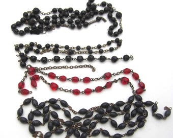 jewelry de-stash rosary parts vintage rosary beads assemblage boho rustic jewelry