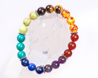 New 7 Chakra Healing Bracelet for Women With Authentic Stones
