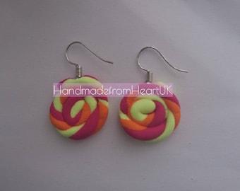 Lollipop earrings Handmade