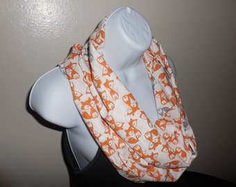 Foxes All Over Infinity Scarf