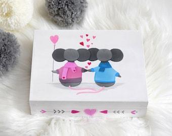 Jewelry Box, Make up Box, Baby Keepsake Box,  Keepsake Box, Wooden Box, Baby Gift, Baby Shower Gift, Keepsake, Treasure Box, Memory Box