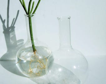 Science Glass / 1000ml Vintage Beakers  / Pyrex Laboratory Glass / Great Scientific Decor and Style