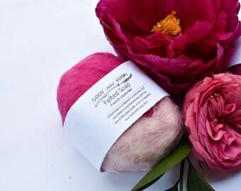 Felted Soap -All Natural Soap, Homemade Soap, Lavender Soap, Jasmine Soap, felt, Natural Roving, Sensitive Skin Soap, Exfoliation