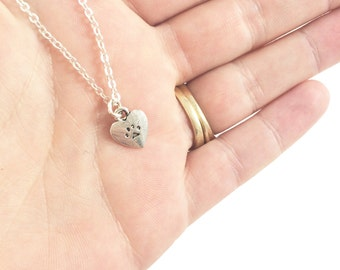 Paw Necklace, Paw Print Necklace, Dog Remembrance Jewelry Pet Loss Jewelry Cat Lady Gifts Pet Memorial Gifts Dog Loss Gift Animal Lover Gift