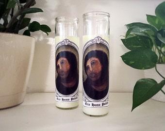 Ecce Homo Potato Jesus Internet Meme 7 Day Candle Catholic Satire Gag Gift Pop Culture
