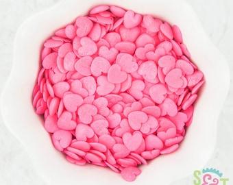 Sweet Sprinkles - Heart Pink Quins Shapes - 4oz Bag