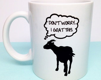Funny Birthday Gift Idea - Funny Goat - Unique Gift Idea - Funny Gift Idea - Office Gift - Secretary Gift - Boss Gift - Gag Gift
