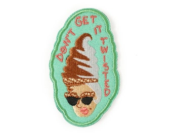 Don't Get It Twisted Patch || ice cream patch, iron on patch, patches for jackets, patches for bags, embroidered patch, ice cream socialite