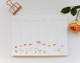 Weekly Planner - Poppies Perpetual Calendar