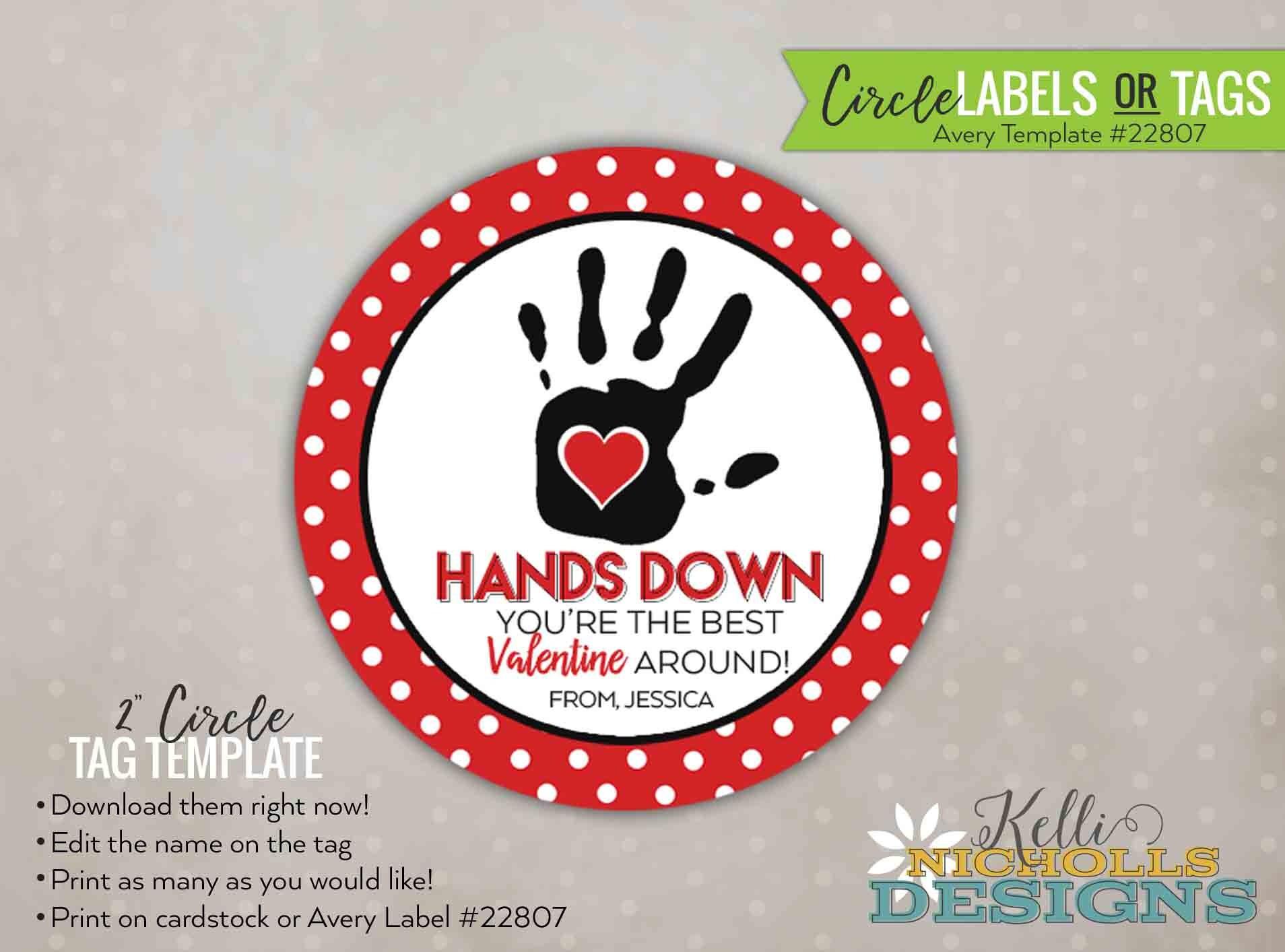 Avery Label Template 22807 Custom Stripes Valentine S Day Sticker
