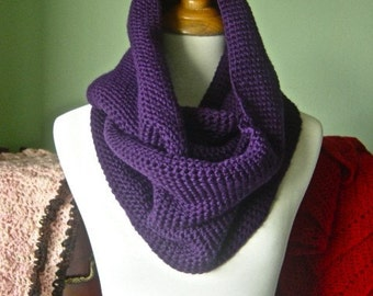 The Lena Infinity Scarf - Luxurious Hand Crochet Merino Wool Snood