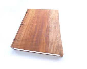 Maple Wooden Notebook Wood Journal Sketchbook Rustic Guest Book Wood Guest Book Personalized Journal Refillable Journal Travel Journal