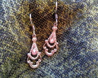 Sterling and CZ Chandelier Earrings ~ NBJ512