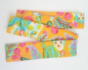 Kitty DPN holder, knitting needle case, DPN case, double pointed needle holder, knitting needle cozy, DPN holder