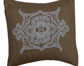Needlepoint pattern LACE - cross stitch,needlepoint,french country,needlepoint pillow,burlap pillows,scandinavian,embroidery pattern,swedish