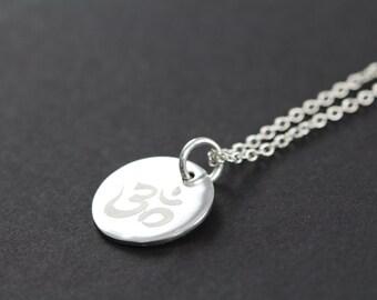 Dainty Ohm Necklace, Spiritual Jewelry 925 Sterling Silver, Yoga Jewelry, Meditation Jewelry
