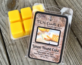 Scented Wax Melts ~ LEMON POUND CAKE Wax Melts ~ Scented Wax Tarts ~ Handmade & Poured ~ Essential Oils