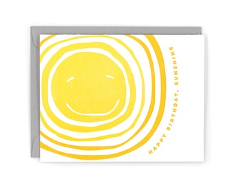 Sunshine Birthday Letterpress Card
