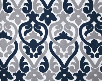 1 yard OUTDOOR Oxford Alex -   Premier Prints -  Home Decor Indoor / Outdoor Fabric - Blue, grey, gray, white