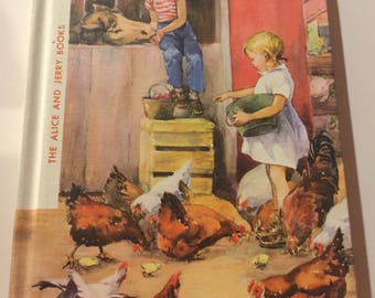 The Alice And Jerry Books Day In Day Out by Mabel O'Donnell Hard Cover Great Condition