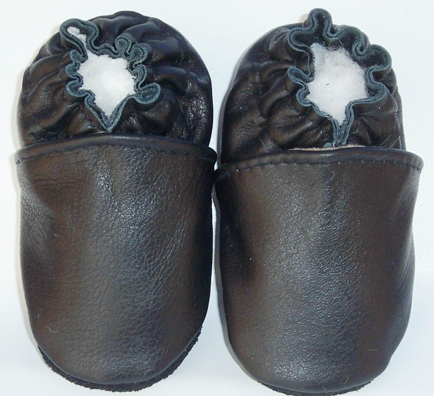 black baby shoes black leather booties black soft leather