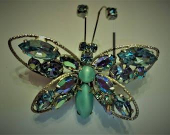 Vintage Regency Butterfly Brooch