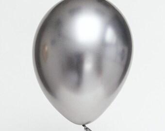 """Qualatex Chrome Silver 11"""" Balloons"""