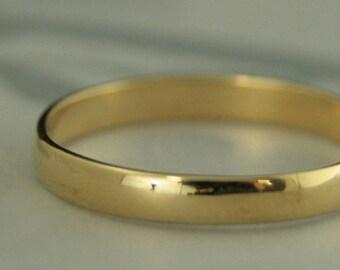 18K Gold Ring Men's Wedding Band Women's Wedding Ring Men's 18K Ring Women's Rounded Band Traditional Ring 3mm Wide Ring 18K Wedding Ring PJ