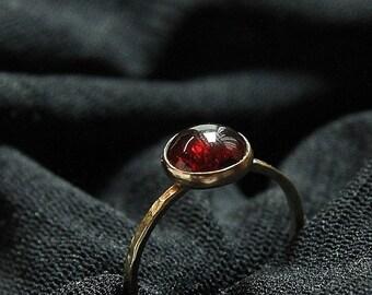 Garnet Stacking Rings - Stackable Gold Fill Rings - Gemstone Rings - January Ring -  Family Rings - Birthstone Stacking Rings - Ring
