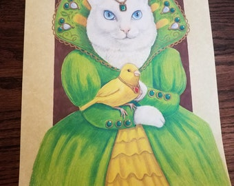The White Cat - Original Artwork