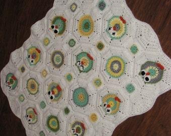 CROCHET PATTERN - Owl Octagon Granny Afghan Pattern / Crochet Owl Afghan Pattern / Crochet Owl Blanket Pattern