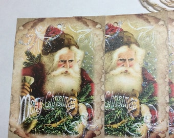 Christmas tags vintage Santa, Christmas gift tags, Christmas hang tags on sale