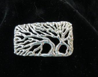 Tree of Life Silver Belt Buckle