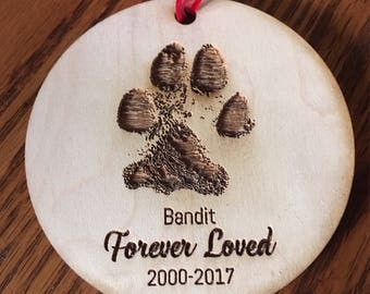 A remembrance of a pet - actual paw print - Forever Loved