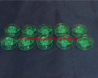 Viking Husqvarna Sewing Machine Bobbins Green Designer, Lily, Rose, Platinum, Freesia, Topaz,