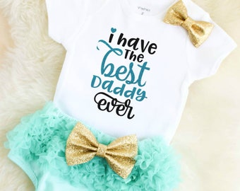 baby girl clothes - daddys girl clothes - baby girl outfits - baby shower gift - Father's Day outfit - daddys girl clothes - newborn girl