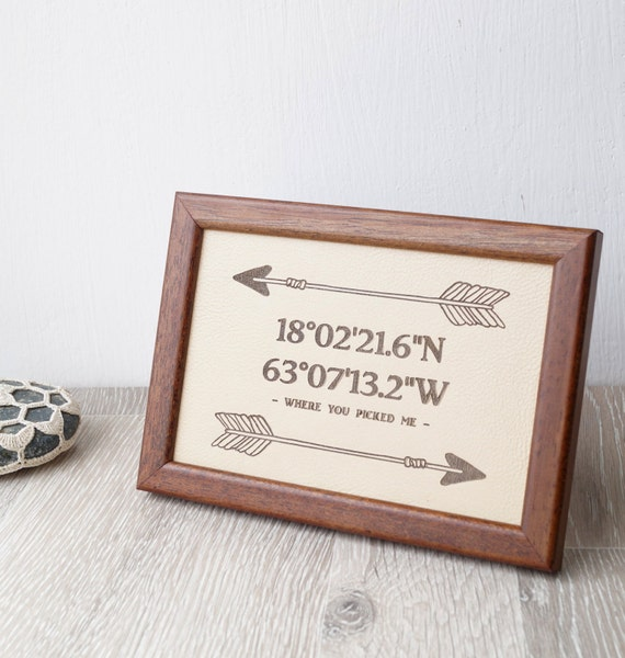 3rd Wedding Anniversary Leather Gifts: 3rd Wedding Anniversary Gift Leather Wedding Sign Engraved