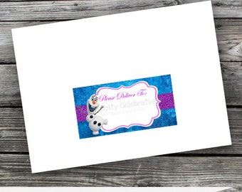 Set of 10 Non Personalized Printed Address Labels -Winter Princess-Mailing Address Labels-Sticker-Mailing Label-Birthday-Deliver to