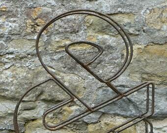 "Large & / Ampersand / Metal / Letter / Free-Standing / Industrial / Vintage / Rustic / Floral / Gift / Wedding / Home / 45cm / 17.5"""