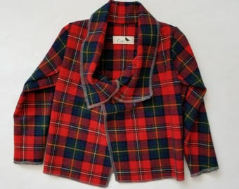Red and Navy Wool Children's Jacket 2-3T