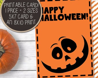 Happy birthday printable card 8x10 enlargement print printable card 8x10 enlargement print happy halloween card halloween greeting card bookmarktalkfo Images