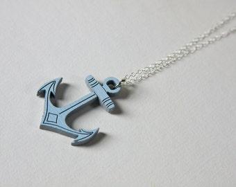 Cast Anchor Necklace