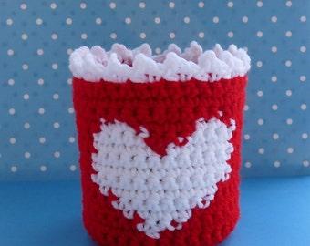 Heart Basket Crochet PATTERN - INSTANT DOWNLOAD