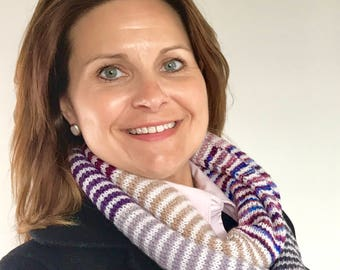 Beautiful Stripped Infinity Scarf