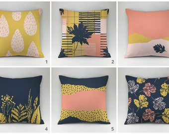 Floral pillow case Decorative pillow Throw pillow cover Cushion pillow floral pillow botanical pillow flower pillow leaf pillow herbal