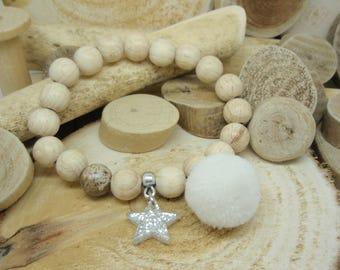 """Le bracelet """"Cosy"""" blanc"""