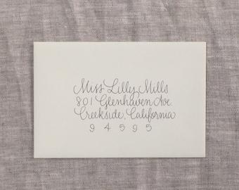 Hand Addressed Envelope - LePen Script