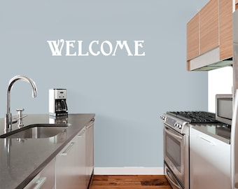 Welcome - Entryway Kitchen Family and Living Room Wall Decals